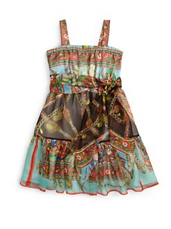 Dolce & Gabbana - Toddler's and Little Girl's Scarf Print Dress