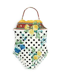 Dolce & Gabbana - Toddler's & Little Girl's One-Piece Floral Swimsuit