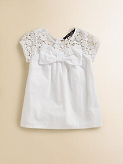 Lili Gaufrette - Toddler's & Little Girl's Crochet Bow Blouse