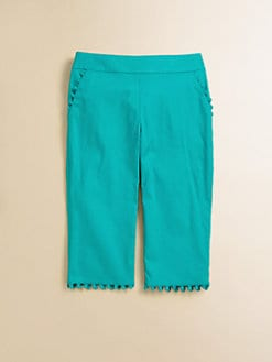 Lili Gaufrette - Toddler's & Little Girl's Popeline Cropped Pants