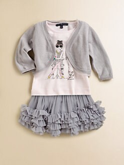 Lili Gaufrette - Toddler's & Little Girl's Raw Edge Muslin Cardigan