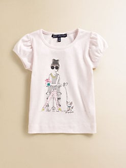 Lili Gaufrette - Toddler's & Little Girl's Girl & Dog Tee