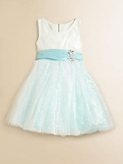 Zoe - Little Girl's Sequin Sparkle Dress