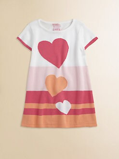 Design History - Toddler's & Little Girl's Colorblocked Heart Sweater Dress