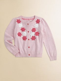 Design History - Toddler's & Little Girl's Crochet Flower Cardigan