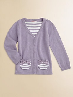 Design History - Toddler's & Little Girl's Striped Cardigan