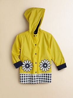 Hartstrings - Toddler's & Little Girl's Daisy Check Raincoat