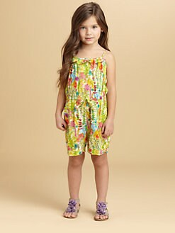 Oscar de la Renta - Toddler's & Little Girl's Floral Romper