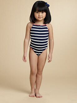 Oscar de la Renta - Toddler's & Little Girl's Stripe One-Piece Swimsuit