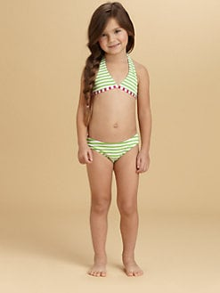 Oscar de la Renta - Toddler's & Little Girl's Striped Bikini
