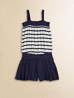 Junior Gaultier - Toddler's & Little Girl's Striped Combo Romper/Dress