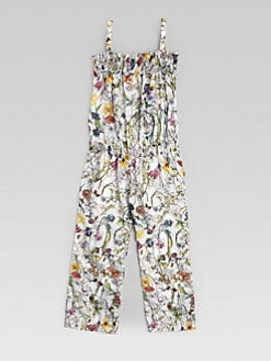 Gucci - Little Girl's Floral Infinity Jumpsuit