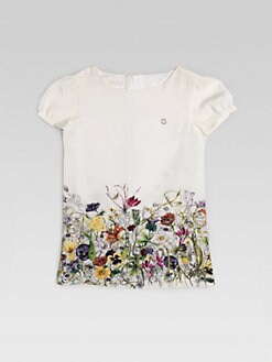 Gucci - Little Girl's Floral Silk Dress