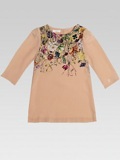Gucci - Little Girl's Floral Silk Blouse