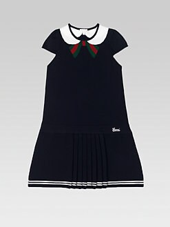 Gucci - Little Girl's Oltremare Pleated Dress