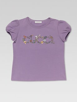 Gucci - Little Girl's Floral Logo Tee