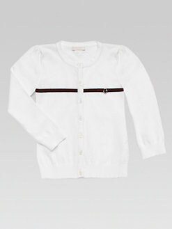 Gucci - Little Girl's Signature Web Cardigan
