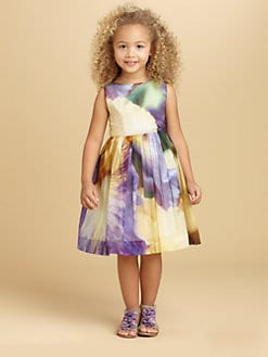 Oscar de la Renta - Toddler's & Little Girl's Watercolor Print Dress