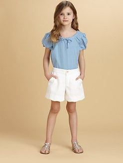 Oscar de la Renta - Toddler's & Little Girl's Gingham Peasant Blouse