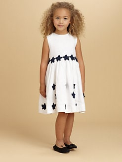 Oscar de la Renta - Toddler's & Little Girl's Appliquéd Linen Dress