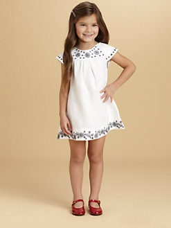 Oscar de la Renta - Toddler's & Little Girl's Embroidered Linen Dress