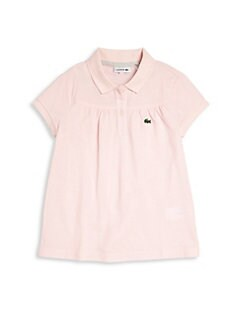 Lacoste - Toddler's & Little Girl's Gathered Pique Polo Shirt