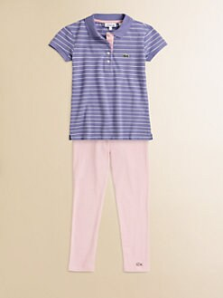 Lacoste - Toddler's & Little Girl's Striped Polo Tunic