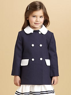 Oscar de la Renta - Toddler's & Little Girl's Woven Pique Coat and Bonnet Set
