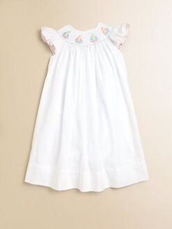 Anavini - Toddler's & Little Girl's Pretty Sailboats Dress