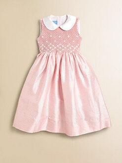 Anavini - Toddler's & Little Girl's Sabine Gingham Silk Dress
