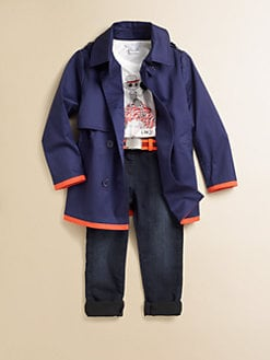 Little Marc Jacobs - Toddler's & Little Girl's Gabardine Mini-Me Peacoat