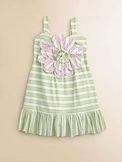 Halabaloo - Toddler's & Little Girl's Flower Striped Dress