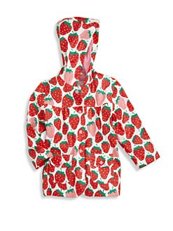 Hatley - Toddler's & Little Girl's Summer Strawberries Raincoat