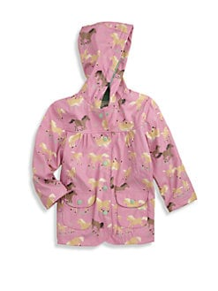 Hatley - Toddler's & Little Girl's Running Horses Raincoat