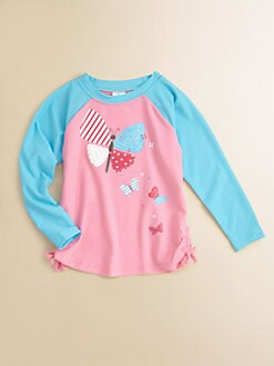 Hatley - Toddler's & Little Girl's Flying Butterflies Rash Guard Top