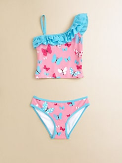 Hatley - Toddler's & Little Girl's Flying Butterflies Two-Piece Tankini Set
