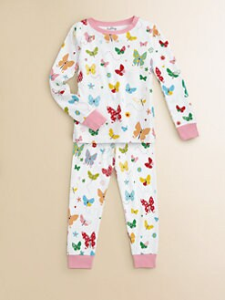 Hatley - Toddler's & Little Girl's Flying Butterflies Pajama Set