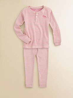 Hatley - Toddler's & Little Girl's Moose Striped Pajama Set