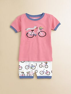 Hatley - Toddler's & Little Girl's Zoom Bikes Pajama Set