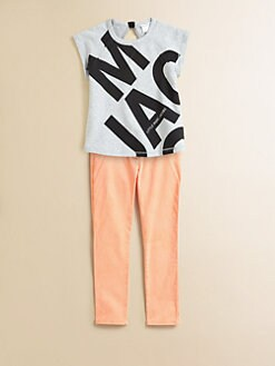 Little Marc Jacobs - Toddler's & Little Girl's Fleece Block Print Top