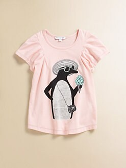 Little Marc Jacobs - Toddler's & Little Girl's Penguin Flutter Shirt
