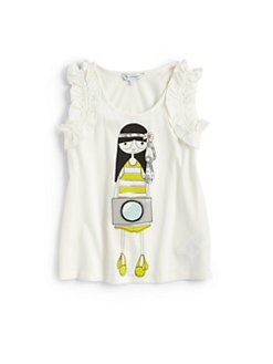 Little Marc Jacobs - Toddler's & Little Girl's Ruffle Miss Marc Tank Top