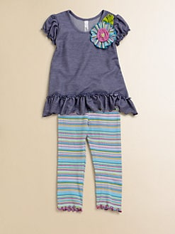 Love U Lots - Toddler's & Little Girl's Tunic and Leggings Set
