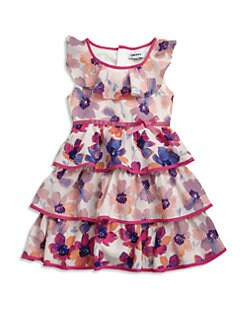 DKNY - Toddler's & Little Girl's Tiered Floral Dress