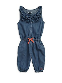 DKNY - Toddler's & Little Girl's Denim Romper