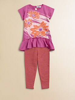 DKNY - Toddler's & Little Girl's Daisy Tunic and Legging Set