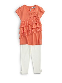 DKNY - Toddler's & Little Girl's Two-Piece Karolin Ruffled Tunic & Leggings Set