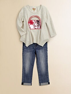 Kiddo - Toddler's & Little Girl's Embellished Fleece Top