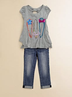 Kiddo - Toddler's & Little Girl's Shoe-Motif Top
