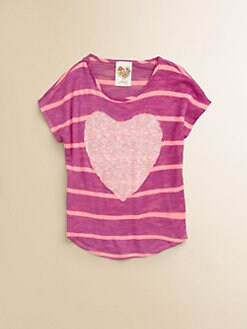 Kiddo - Toddler's & Little Girl's Studded Heart Top